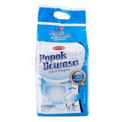 Choice L Adult Diapers Size M 100-140cm (8 pieces)
