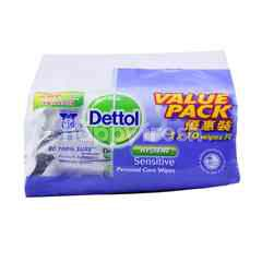 Dettol Hygiene Sensitive Personal Care Wipes (3 Packets)