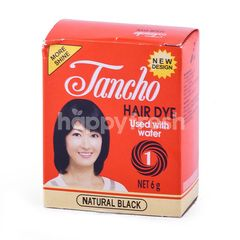 Tancho Bubuk Pewarna Rambut Hitam Alami