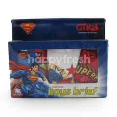 GT Man Kids Superman Briefs Size L