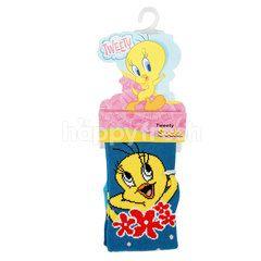 Looney Tunes Kaos Kaki Tweety Tipe LT6W003 Ukuran 17-20