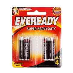 Eveready Super Heavy Duty AAA 4