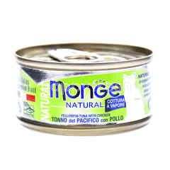 MONGE Natural Yellowfine Tuna With Chicken Flavoured Cat Food