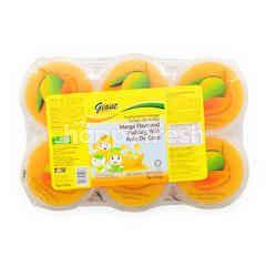 Giant Mango Flavoured Pudding With Nata De Coco
