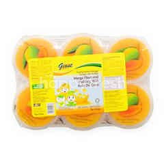 Giant Mango Flavoured Pudding With Nata De Coco