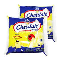 Fonterra Chesdale Cheddar Cheese Slices (12 Slices) Twinpack