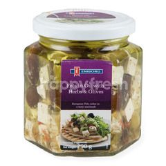 Emborg Feta In Olive Oil With Herbs & Olives Cheese