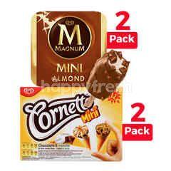 Wall's Cornetto Mini and Magnum Mini Ice Cream Package