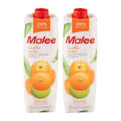 มาลี น้ำส้มทรีโอ ผสมเนื้อส้ม 100% (แพ็ค)