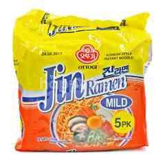 Ottogi Mild Jin Ramen (5 Packets) Instant Noodle