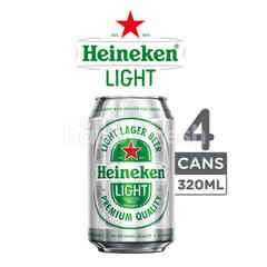 Heineken Light Canned Lager Beer 4 Pack
