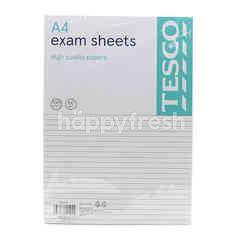 Tesco A4 Exam Sheet