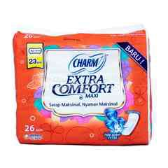 Charm Extra Comfort Maxi Sanitary Pad Non Wing (26 pads)