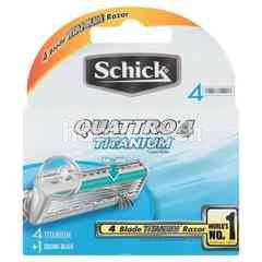 Schick Quattro Titanium Razor (4 Blades)