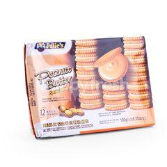 Julie's Biskuit Sandwich Mentega Kacang