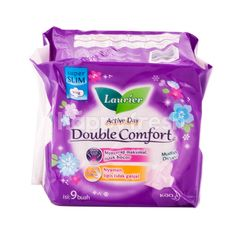 LAURIER Active Day Double Comfort (9) Sanitary Pad