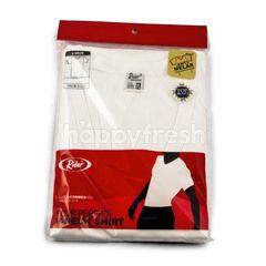 Rider Kaos Putih Kerah V ukuran XL