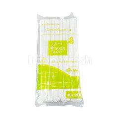 Home Fresh Mart White Elexible Straw Non & Toxics Plastic