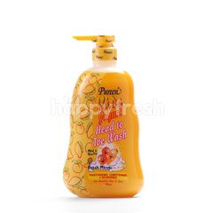 Pureen Kids Yogurt Head To Toe Wash Peach Mango