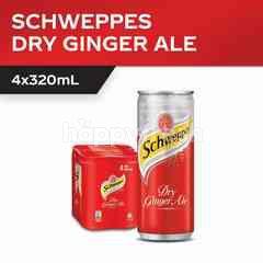 Schweppes Ginger Ale Sparkling Drink 4x320ml