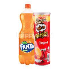 Fanta Rasa Jeruk 1.5L dan Pringles Keripik Kentang Original