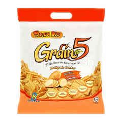 SNEK KU Grain 5 Potato Flavour Multigrain Cracker (16 Packet)