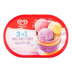 Wall's 3-in-1 Triple Fruit Flavour Ice Cream
