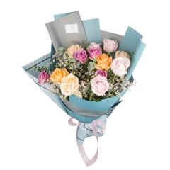 Heartis Bouquet Of Colorful Mixed Flowers