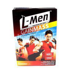 L-Men Gainmass Susu Nutrisi Tinggi Kalsium Rasa Pisang untuk Tambahan Olahraga