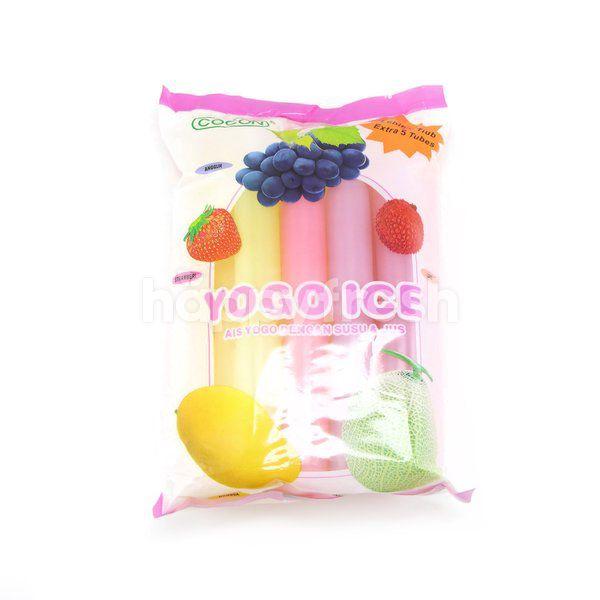 Cocon Yogo Ice Pudding Strawberry, Mango, Lychee, Honey Melon & Grape Pudding
