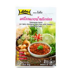 Lobo Seasoning Paste For Spicy Northern Thai Pork With Tamato (Nam Prik Ong)
