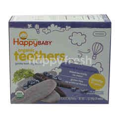 HAPPY BABY Organic Teethers Blueberry & Purple Carrot Wafers