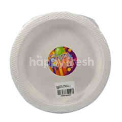 Happy Party White Mika Plate 17cm