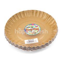 "Multi Sigma Party Ware Plate Gold 14"""
