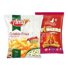QSR AMY Crinkle Cut and Ayamas Hot & Spicy Chicken Fingers