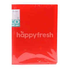 Tesco Red A4 Clear Book File