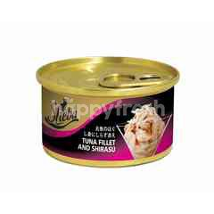 Sheba Can Cat Wet Food Adult Tuna Fillets & Shirasu 85G Cat Food