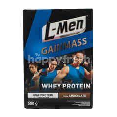 L-Men Gainmass Susu Nutrisi Tinggi Kalsium Rasa Cokelat untuk Tambahan Olahraga