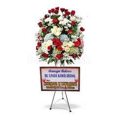 Citra Florist Standing Flowers Condolence Standard Red and White