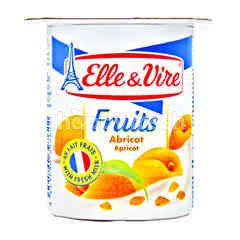 Elle & Vire Yogurt Rasa Aprikot