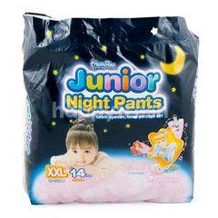 MamyPoko Popok Celana Tidur Bayi Perempuan Ukuran XXL (14 buah)