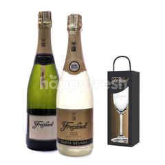 Freixenet Cordon Rosado + Vintage Reserva Get Riedel Flute Glass Free