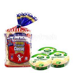 Arla Triangles 8 Portion Cheese + Gardenia Original Classic Bread