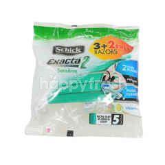 Schick Exacta 2 Sensitive Shaver 3+2 free (5 pcs)