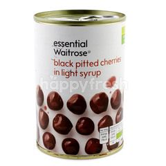 Essential Waitrose Black Pitted Cherries In Light Syrup