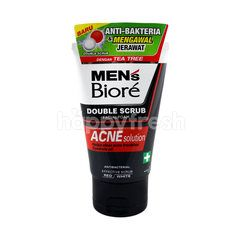 Kao Biore Men's Double Scrub Acne Solution Foaming Cleanser