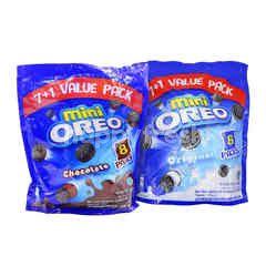 Oreo Mini Value Pack 184g & Oreo Mini Chocolate (8 Pieces) 23g