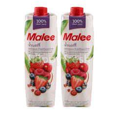 มาลี น้ำเบอร์รี่ ผสมน้ำองุ่นแดง น้ำแอปเปิ้ลและน้ำทัมทิม 1 ลิตร แพ็คคู่