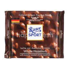 Ritter Sport Whole Hazelnuts Milk Chocolate