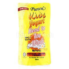 Pureen Refill Pack Kids Yogurt Head To Toe Wash Natural